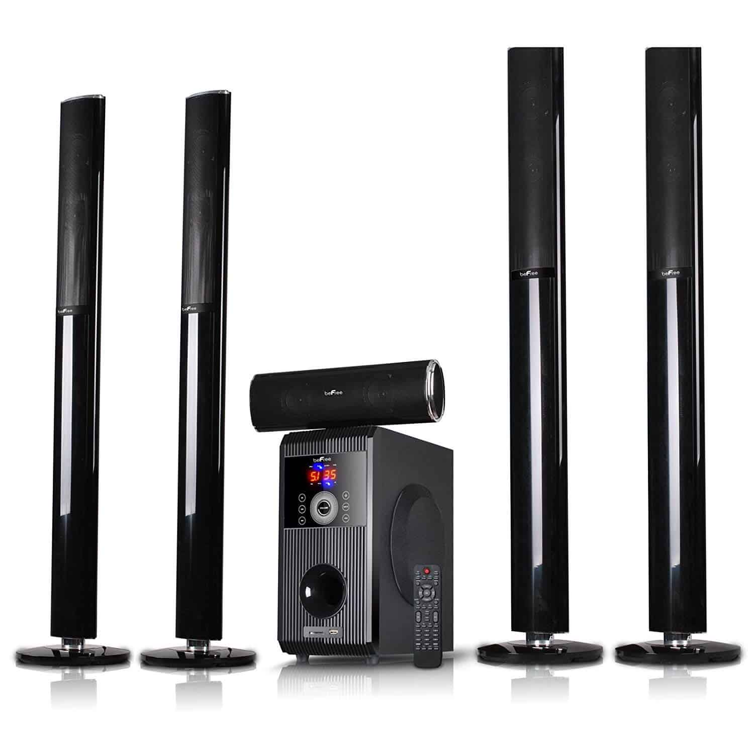 BeFree home tower speakers surround sound system