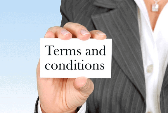 Capture terms and conditions