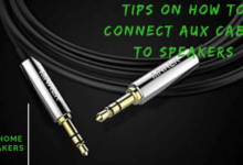 how to connect aux cable to speakers