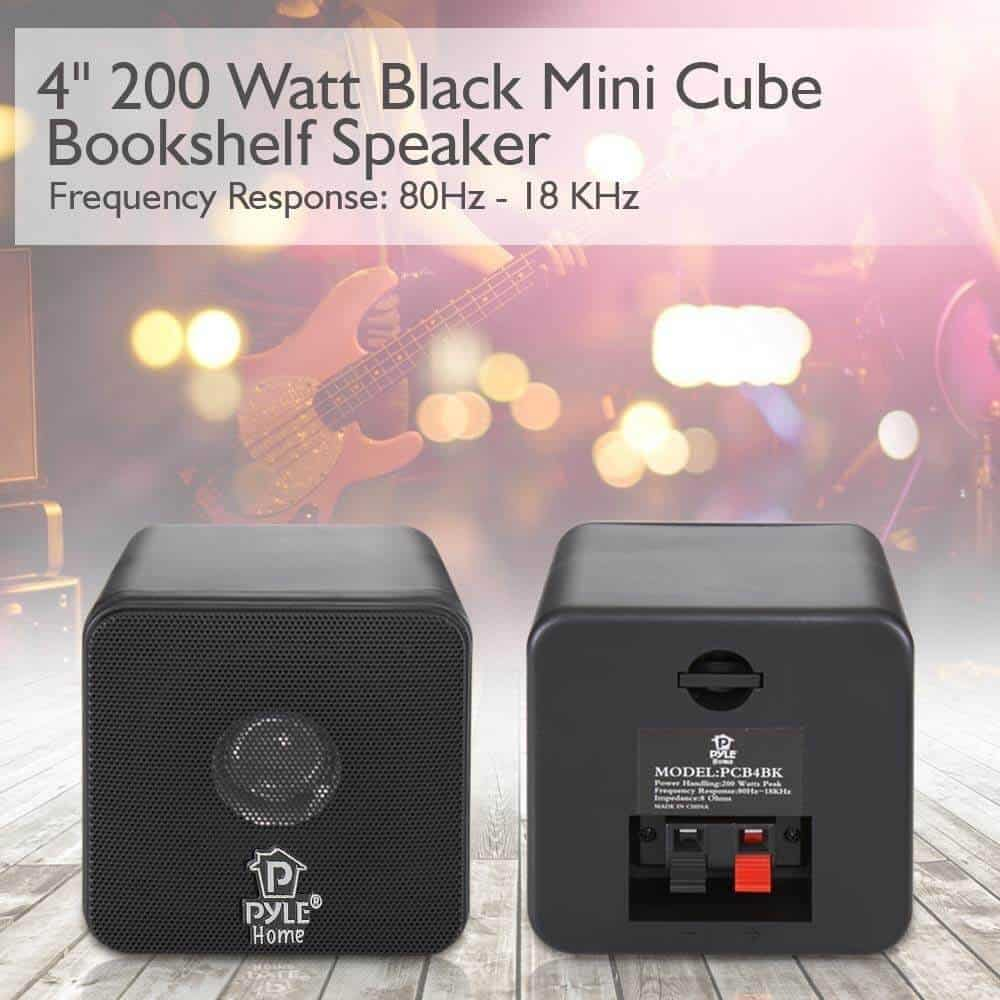 Mini Cube Bookshelf Speakers
