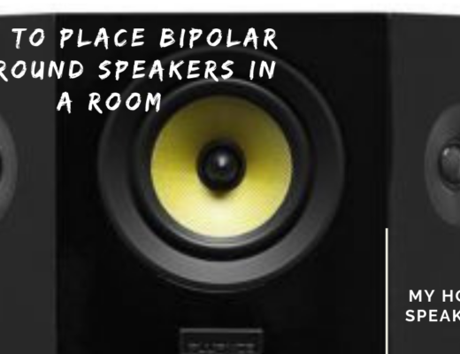 how to place bipolar surround speakers