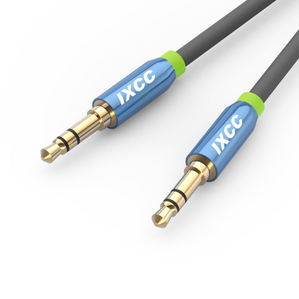 iXCC Male to Male Auxiliary Cable with Gold Plated Connectors