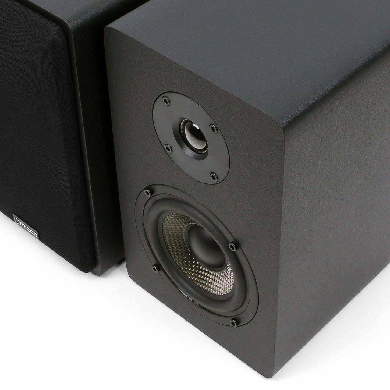 Black, Pair Micca MB42 Bookshelf Speakers