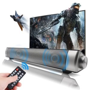 Sanwo Black Wired and Wireless Bluetooth Home Theater TV Surround SoundBar