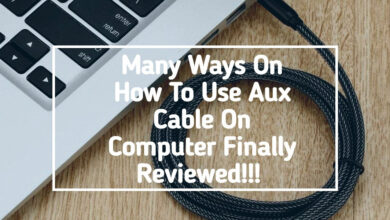 How To Use Aux Cable On Computer