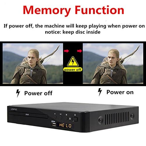 LONPOO All Multi Region Free CD / DVD Player for TV