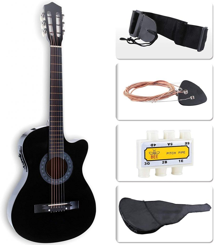 LAGRIMA 38-inch Acoustic-Electric Guitar