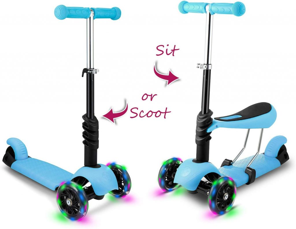 Hikole Scooters for Toddlers Kids 3-in-1