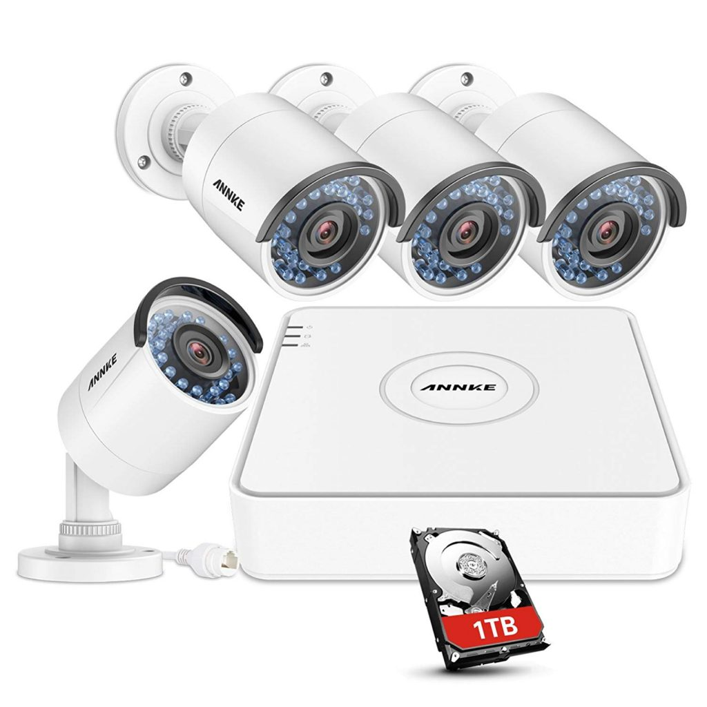 ANNKE 4CH 720P HD TVI CCTV Security System