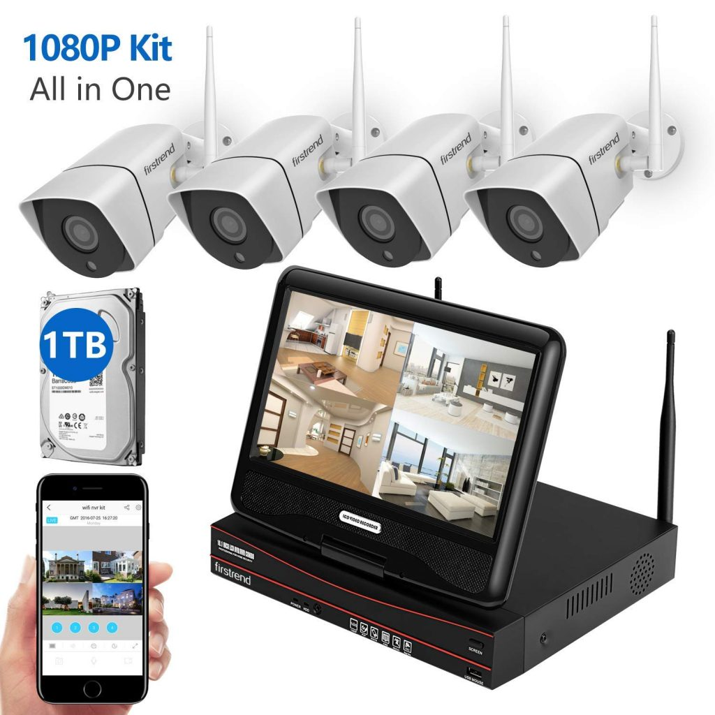Firstrend 1080P Wireless Security Camera System