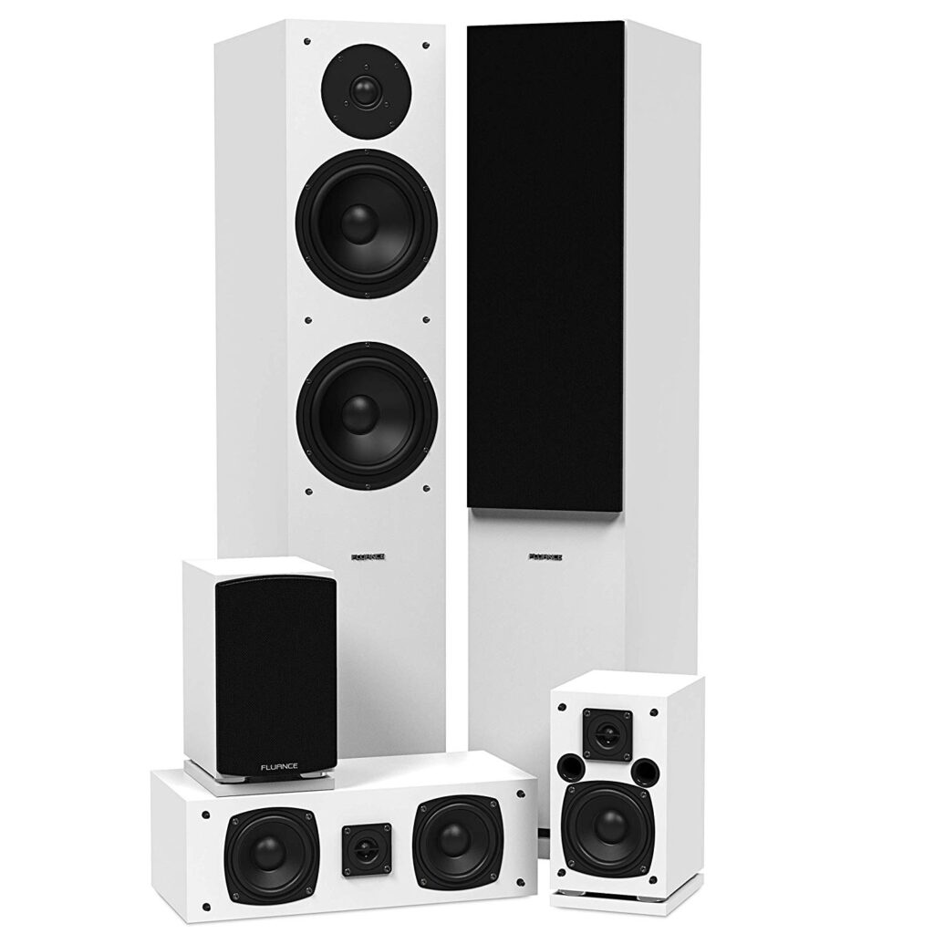 Fluance SXHTBWH High Definition Surround Sound Home Theater