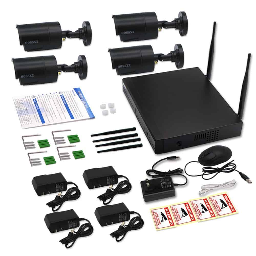 OOSSXX HD 8CH 1080P Wireless Security System