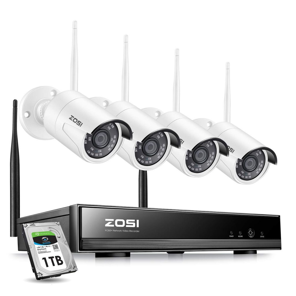 ZOSI 4PCS Megapixel 720P Wireless Outdoor Camera System