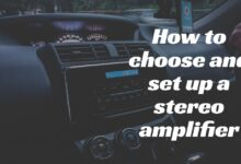 set up a stereo amplifier