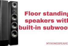 Floor standing speakers with built-in subwoofer