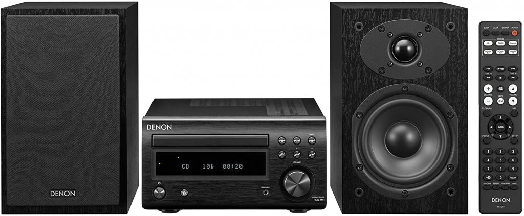 Denon D-M41 Home Theater Mini Amplifier and Bookshelf Speaker
