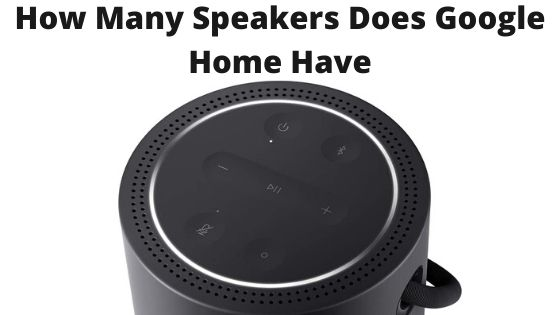 How Many Speakers Does Google Home Have