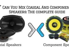 can you mix Coaxial And Component Speakers